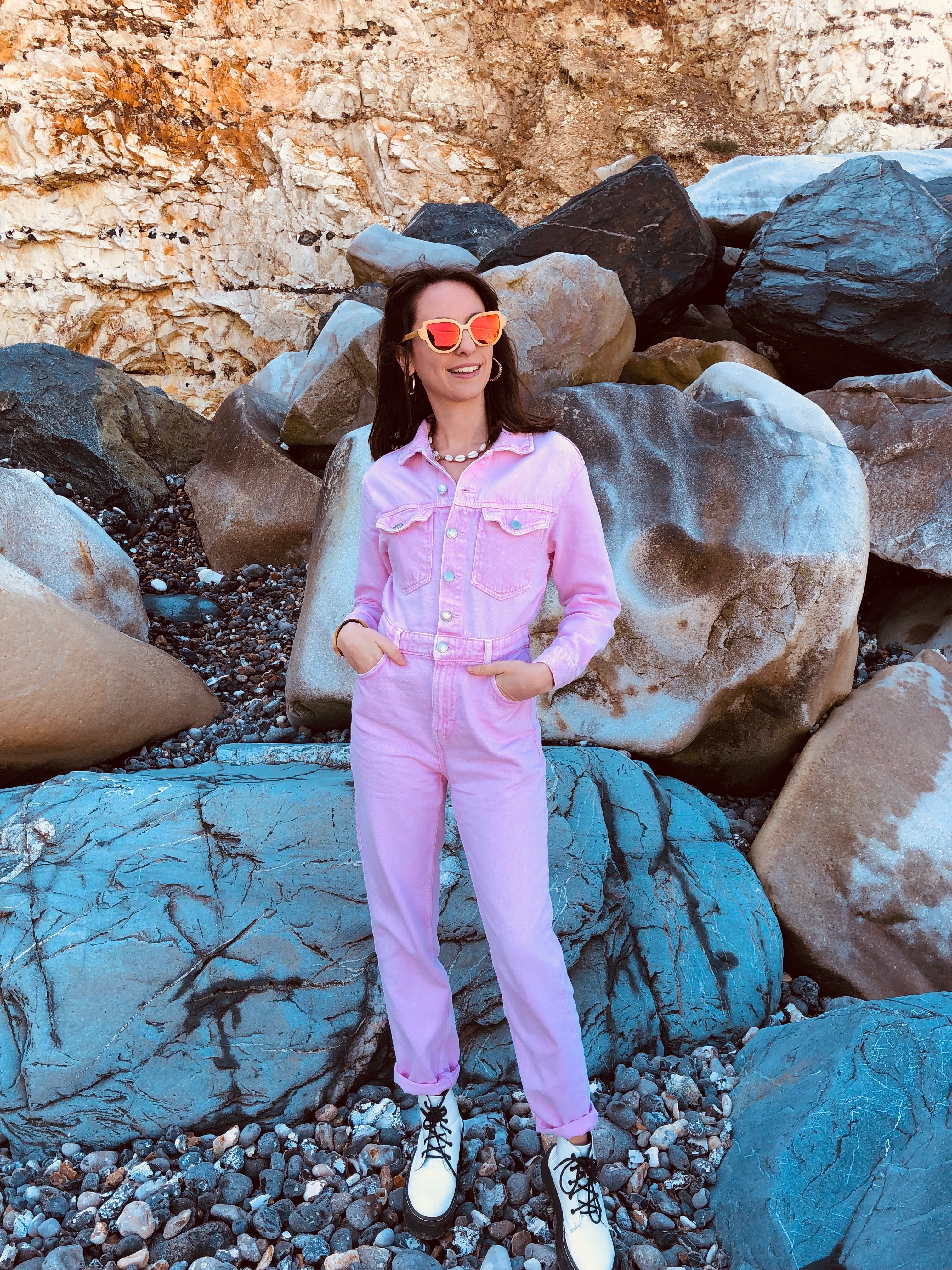 Pink Jumpsuit & the wood stock